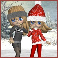 Holidays for Winter Fun for Cookie 3D Figure Assets 3D Models GRAWULA-Design