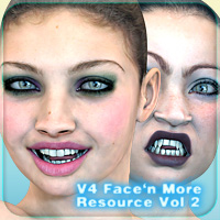 V4 Face 'n More Resource Vol II 3D Figure Essentials _Fenrissa_
