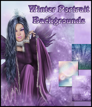Winter Portrait Backgrounds by Bez