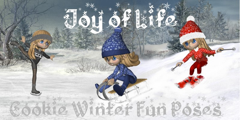 Joy of Life-Cookie Winterfun Poses