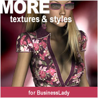 MORE Textures & Styles for BusinessLady Clothing Themed Software motif