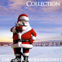 Meshbox Christmasland Backgrounds 1 2D Graphics 3D Models chikako