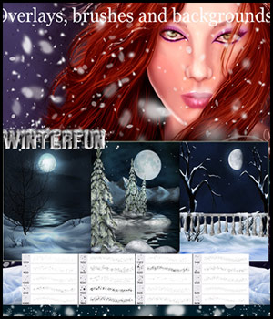 Atmospheric Overlays - Winterfun 3D Models 2D Graphics antje