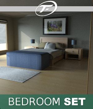 Bedroom Set 3D Models TruForm