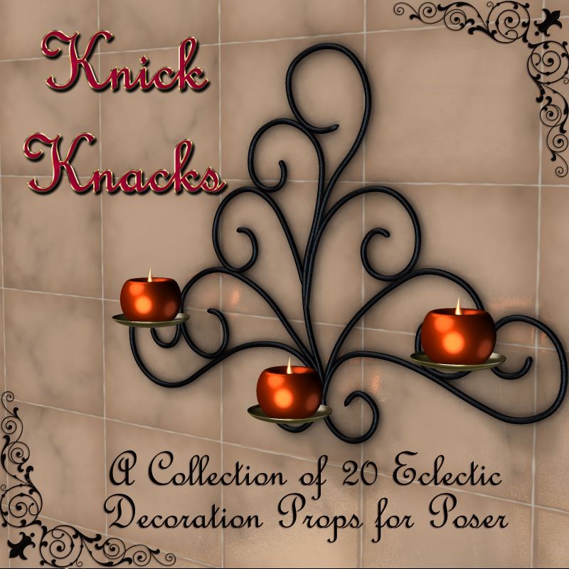 Knick Knacks - Decorative Props for Poser