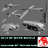 2010 SF SHIPS BUNDLE 3D Models rj001