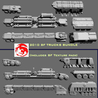 2010 SF TRUCKS BUNDLE 3D Models rj001