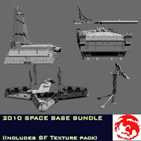 2010 SPACE BASE BUNDLE 3D Models rj001