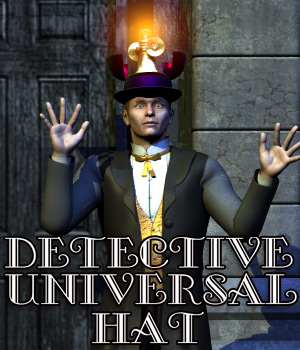 Detective Universal Hat - Big Bundle 3D Models 3D Figure Essentials Cybertenko