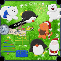 Needlepoint-Cute Christmas 3D Models 2D Valerian70