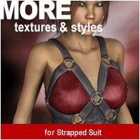 MORE Textures & Styles for Strapped Suit 3D Models 3D Figure Assets motif