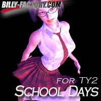 TY2 School Days 3D Figure Assets billy-t