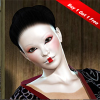 XP Kabuki_Geisha Construction Set Vol. 1 Software 3D Figure Essentials 2D pointblank