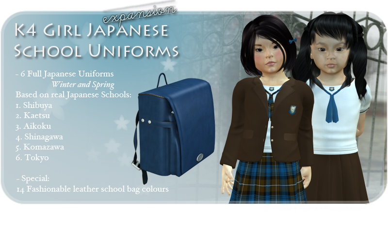 K4 Girls Japanese Uniforms Expansion