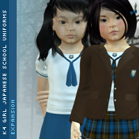 K4 Girls Japanese Uniforms Expansion 3D Figure Assets kjherstin