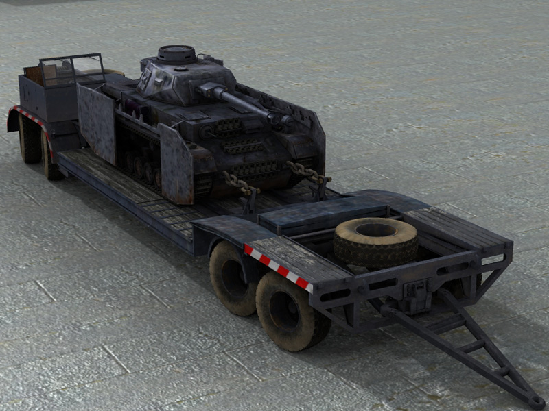 SdAh116 Heavy Trailer (For Poser)