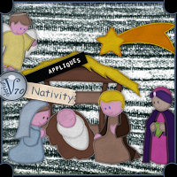 Appliques-Nativity 3D Models 2D Graphics Valerian70