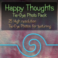 Happy Thoughts Tie-Dye Photo Pack  WhimsySmiles