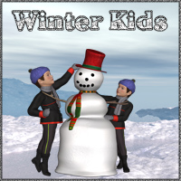 Winter Kids Poses/Expressions Themed lunchlady