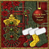 Sew and Sew Tartan Xmas 3D Models 2D Graphics macatelier