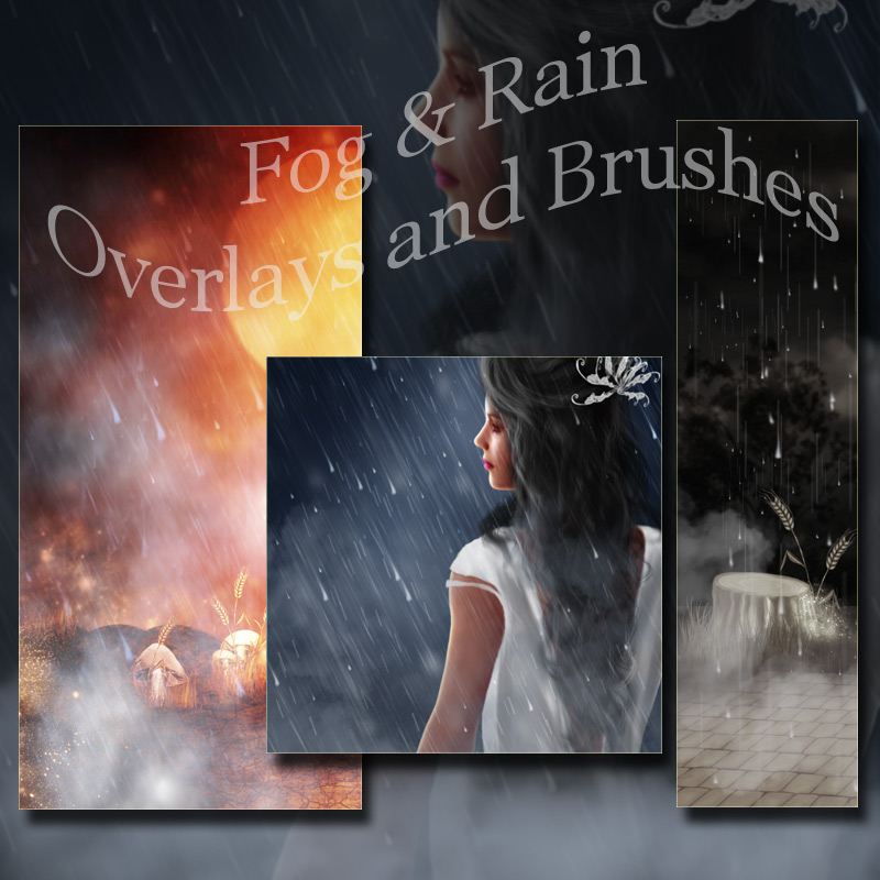Atmospheric Overlays - Fog and Rain by antje