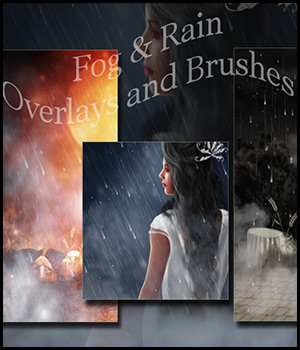 Atmospheric Overlays - Fog and Rain 3D Models 2D Graphics antje
