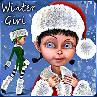 Winter Girl for Mavka 3D Models smay