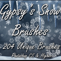 Gypsys Snowflake Brushes 2D gypsyangel
