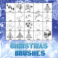 Christmas Brushes 2 2D And/Or Merchant Resources Themed Atenais