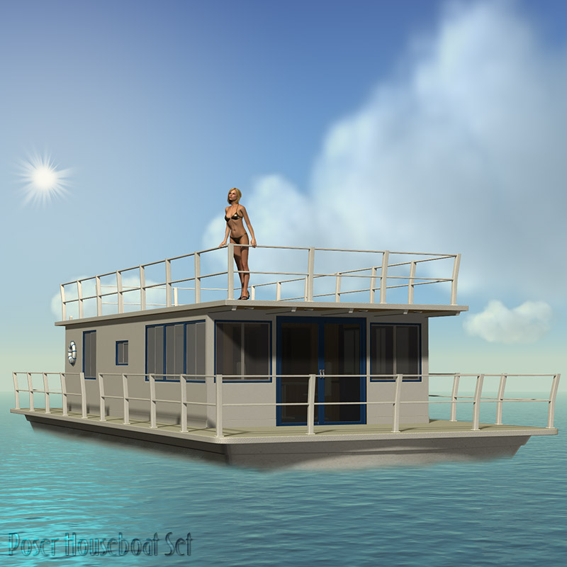 Poser Houseboat Set
