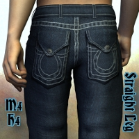 Sickle Straight Leg Jeans M4H4 3D Figure Assets SickleYield