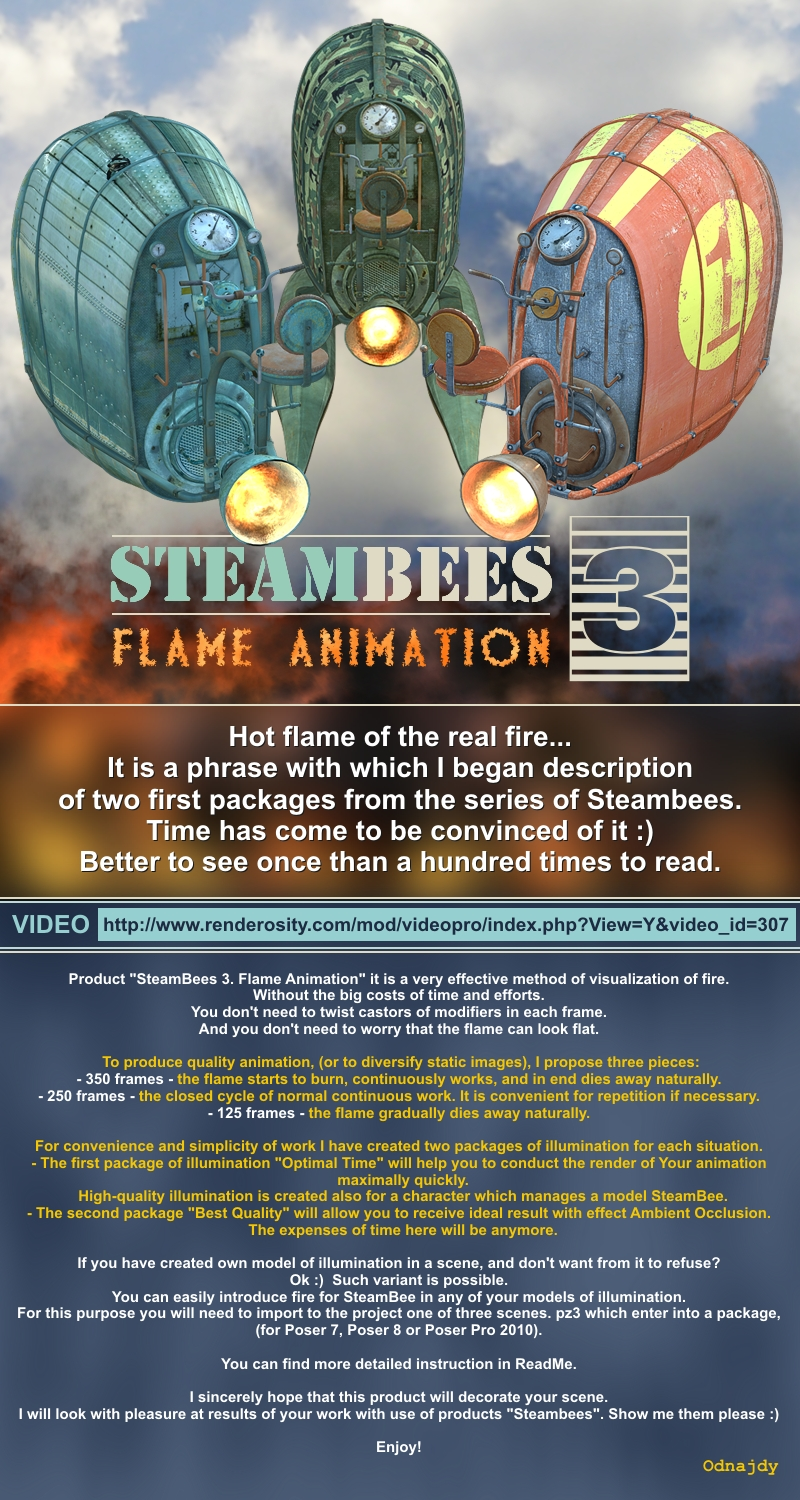 SteamBees 3 Flame Animation