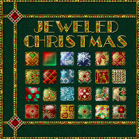 Jeweled Christmas Layer Styles w Free Gift 3D Models 2D fractalartist01