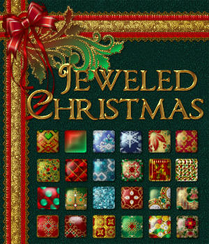 Jeweled Christmas Layer Styles w Free Gift 2D Graphics fractalartist01