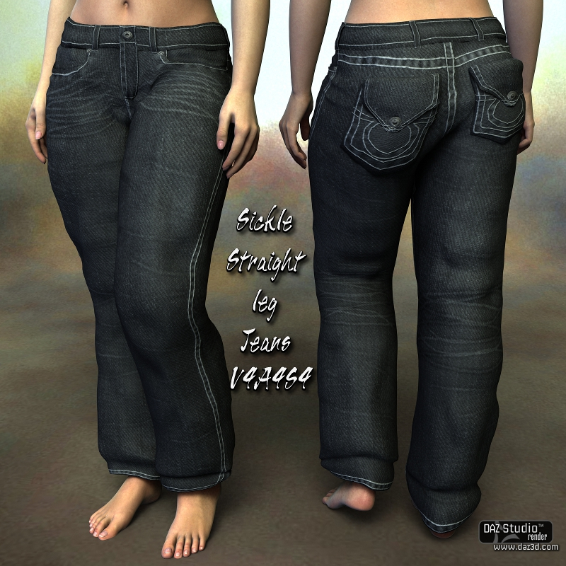 Sickle Straight Leg Jeans V4A4S4