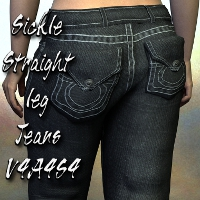 Sickle Straight Leg Jeans V4A4S4 Clothing SickleYield