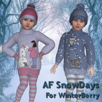 AF SnowDays 3D Figure Essentials 3D Models Angelsfury2004