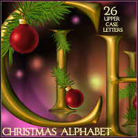 Christmas Alphabet 2D And/Or Merchant Resources LadyJ