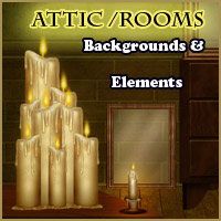 Attic-Rooms Backgrounds and Elements Themed 2D And/Or Merchant Resources Makena