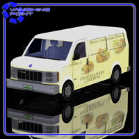 Delivery Van (for Poser) 3D Models VanishingPoint