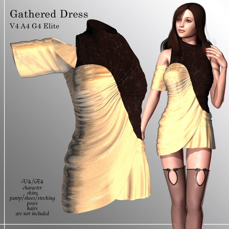 Gathered Dress for V4A4G4Elite