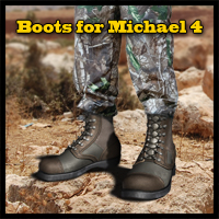 Slide3D Boots for M4 3D Figure Assets Slide3D