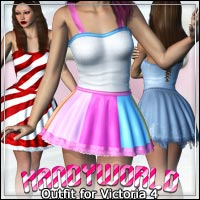 Kandyworld: Outfit for V4 3D Models 3D Figure Essentials outoftouch