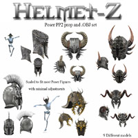 Helmet-Z Themed Props/Scenes/Architecture Clothing Poisen