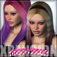 Kandy Hair XPansion 3D Figure Assets outoftouch