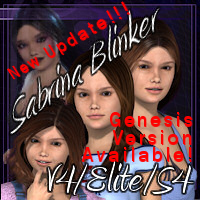 Sabrina Blinker V4-Elite-S4 3D Figure Essentials jamminwolf