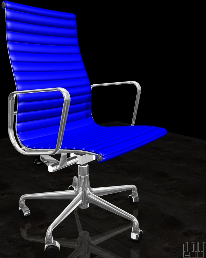 dm steigers eames aluminum executive chair themed poser