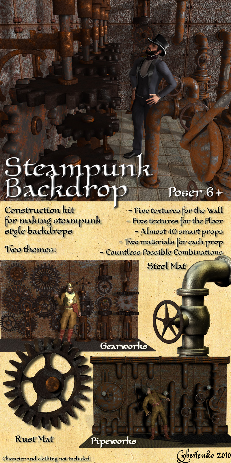 Steampunk Backdrop
