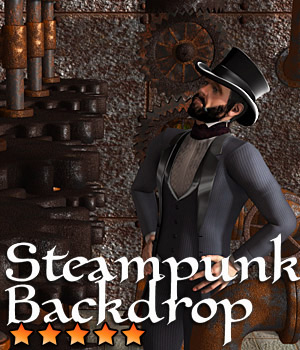 Steampunk Backdrop 3D Models Cybertenko