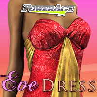 Eve Dress V4 3D Figure Assets powerage